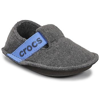 Scarpe Unisex bambino Pantofole Crocs CLASSIC SLIPPER K Grigio / Blu