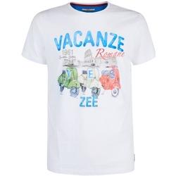 Abbigliamento Uomo T-shirt maniche corte Yes Zee Stampa Vacanze Romane BIANCO