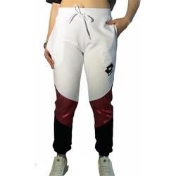 Abbigliamento Donna Pantaloni da tuta Lotto LTD447 BIANCO/FUXIA