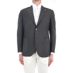 Abbigliamento Uomo Giacche / Blazer Lbm 1911 15841-2887 Blazer Uomo Grigio scuro Grigio scuro