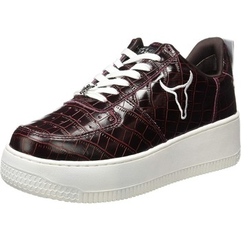 Scarpe Donna Tennis Windsor Smith wsrraccrocbord Red