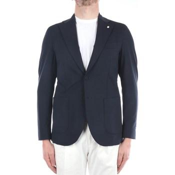Abbigliamento Uomo Giacche / Blazer Lbm 1911 15702-2844 Blazer Uomo Blu Blu