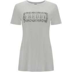 Abbigliamento Donna T-shirt maniche corte Freddy S1WALT2 Bianco
