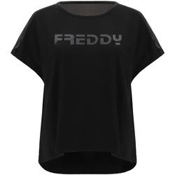 Abbigliamento Donna T-shirt maniche corte Freddy S1WTBT3 Nero