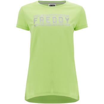 Abbigliamento Donna T-shirt maniche corte Freddy S1WCLT2 Verde