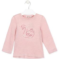 Abbigliamento Bambina T-shirts a maniche lunghe Losan 026-1796AL Rosa