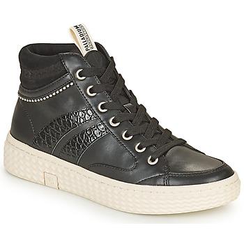 Scarpe Donna Sneakers alte Palladium Manufacture TEMPO 03 SYN Nero