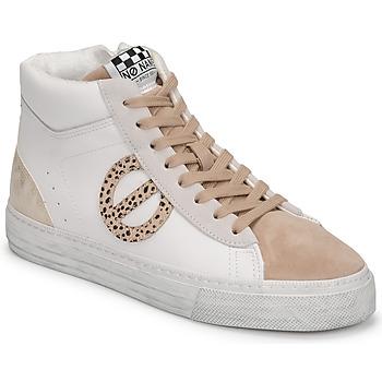 Scarpe Donna Sneakers alte No Name STRIKE MID CUT Bianco
