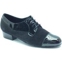 Scarpe Uomo Sandali sport Vitiello Dance Shoes Scarpa da uomo per ballo standard in camoscio e verniciato color NERO