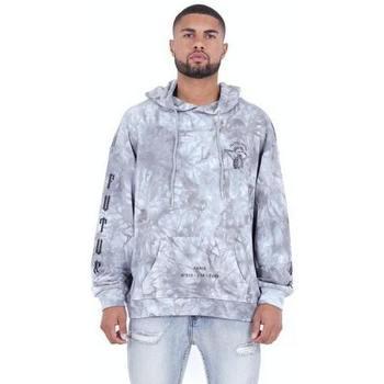 Abbigliamento Uomo Felpe Sixth June Sweatshirt  Custom Tie Dye gris anthracite/rose hibiscus