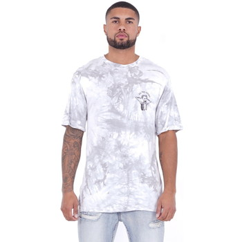 Abbigliamento Uomo T-shirt maniche corte Sixth June T-shirt  Custom Tie Dye blanc/rose