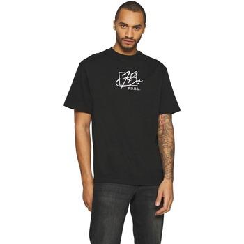 Abbigliamento Uomo T-shirt maniche corte Fubu T-shirt  Script noir