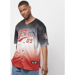 Abbigliamento Uomo T-shirt maniche corte Fubu Maillot  Varsity Baseball noir/blanc/rouge