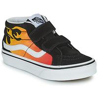 Scarpe Bambino Sneakers alte Vans SK8-MID Nero / Rosso