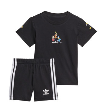 Abbigliamento Bambino Completo adidas Originals COTES Nero