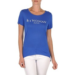 Abbigliamento Donna T-shirt maniche corte School Rag TEMMY WOMAN Blu