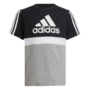 Abbigliamento Bambino T-shirt maniche corte adidas Performance MOULITA Grigio / Nero