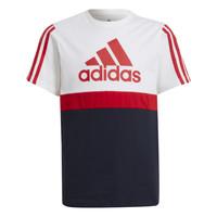 Abbigliamento Bambino T-shirt maniche corte adidas Performance GUILIA Bianco / Marine