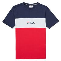 Abbigliamento Bambina T-shirt maniche corte Fila TEKANI Rosso / Marine