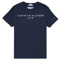 Abbigliamento Bambino T-shirt maniche corte Tommy Hilfiger SELINERA Marine