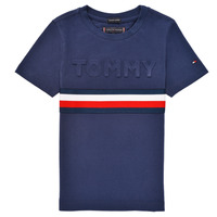 Abbigliamento Bambino T-shirt maniche corte Tommy Hilfiger ELEONORE Marine