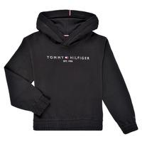 Abbigliamento Bambina Felpe Tommy Hilfiger DEMINRA Nero