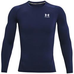 Abbigliamento Uomo T-shirts a maniche lunghe Under Armour Heatgear Armour Long Sleeve Bleu marine