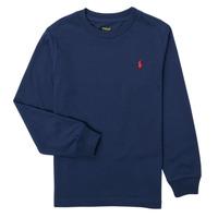 Abbigliamento Bambino T-shirts a maniche lunghe Polo Ralph Lauren KEMILO Marine