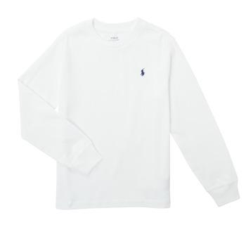 Abbigliamento Bambino T-shirts a maniche lunghe Polo Ralph Lauren KEMILO Bianco
