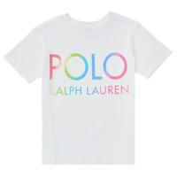 Abbigliamento Bambina T-shirt maniche corte Polo Ralph Lauren FERILO Bianco
