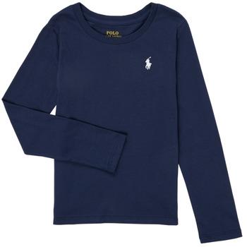 Abbigliamento Bambina T-shirts a maniche lunghe Polo Ralph Lauren TENINA Marine