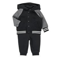 Abbigliamento Bambino Completo Polo Ralph Lauren DENILO Nero / Grigio
