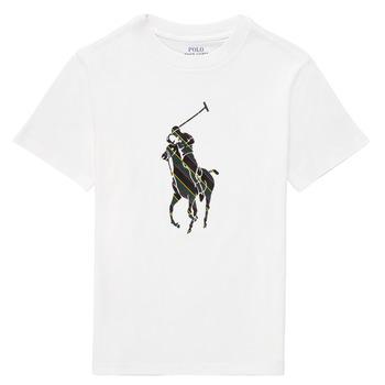 Abbigliamento Bambino T-shirt maniche corte Polo Ralph Lauren GUILIA Bianco