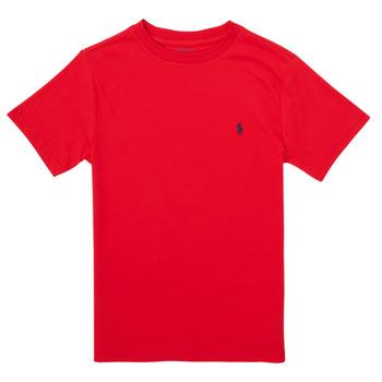 Abbigliamento Bambina T-shirt maniche corte Polo Ralph Lauren FOLLIA Rosso