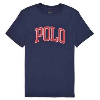 Abbigliamento Bambino T-shirt maniche corte Polo Ralph Lauren MALIKA Marine