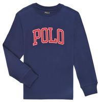 Abbigliamento Bambino T-shirts a maniche lunghe Polo Ralph Lauren METIKA Marine