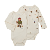 Abbigliamento Bambino Body Polo Ralph Lauren TAKINA Ecru