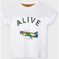 Abbigliamento Unisex bambino T-shirt maniche corte Mayoral ATRMPN-26626 Bianco