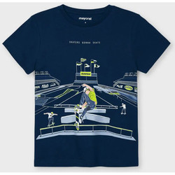 Abbigliamento Unisex bambino T-shirt maniche corte Mayoral ATRMPN-26631 Blu