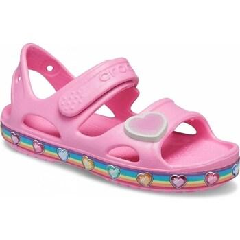 Scarpe Unisex bambino Sandali Crocs Fun Lab Rainbow Sandal Kids Rosa