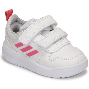 Scarpe Bambina Sneakers basse adidas Performance TENSAUR I Bianco / Rosa
