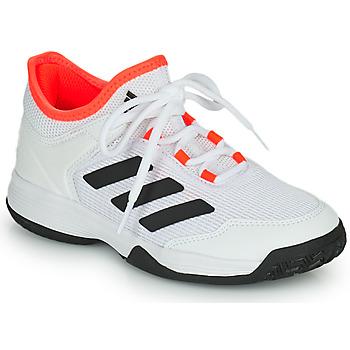 Scarpe Unisex bambino Tennis adidas Performance Ubersonic 4 k Bianco / Rosso