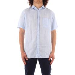 Abbigliamento Uomo Camicie maniche corte Trussardi 52C00213 1T002248 BLU