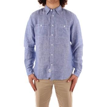 Abbigliamento Uomo Camicie maniche lunghe Blauer 21SBLUS01221 BLU