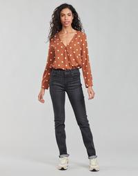 Abbigliamento Donna Jeans dritti Levi's 725 HIGH RISE STRAIGHT Nero