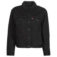 Abbigliamento Donna Giacche in jeans Levi's EX BF SHERPA TRUCKER Nero
