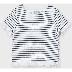 Abbigliamento Bambina T-shirt maniche corte Mayoral ATRMPN-26657 Bianco