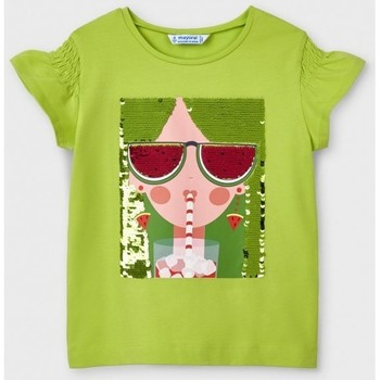 Abbigliamento Bambina T-shirt maniche corte Mayoral ATRMPN-26658 Verde
