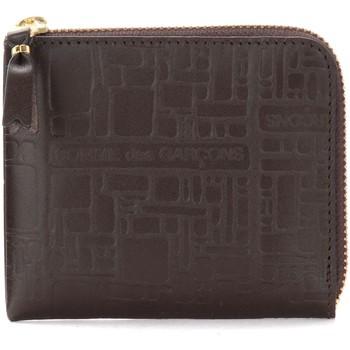 Borse Portafogli Comme Des Garcons Bustina Wallet Comme Des Garçons in pelle stampata marrone Marrone