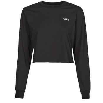 Abbigliamento Donna T-shirts a maniche lunghe Vans JUNIOR V LS CROP Nero